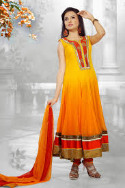 butta deep orange u0026 gold color salwar kameez buy online new