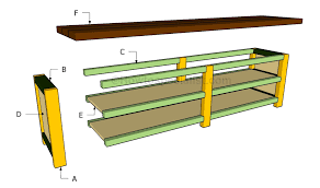 sofa table plans howtospecialist how to build step by step