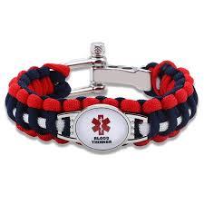 adjustable paracord bracelet images Blood thinner medical alert adjustable paracord bracelet free JPG