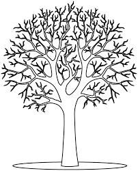 Coloriage à imprimer  un arbre en hiver  Doryfr coloriages
