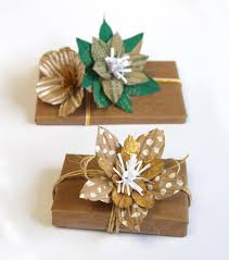 paper wrapped flowers how to gift wrap using up cycled paper bag flower toppers