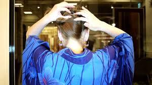 how to do a japanese hairstyle for yukata kimono 2 浴衣の簡単