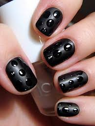 35 black nail designs for women nail design ideaz