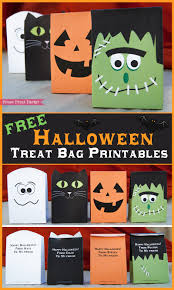 halloween gift bag ideas free halloween printable treat bags by press print party free