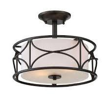 Bronze Semi Flush Ceiling Light by Designers Fountain Semi Flushmount Lights Ceiling Lights The