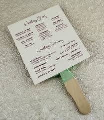 program fans wedding program paddle fan template matelasse design