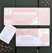 wedding ticket invitations notonthehighstreet com