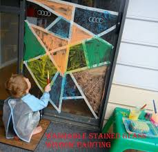 window painting washable stained glass