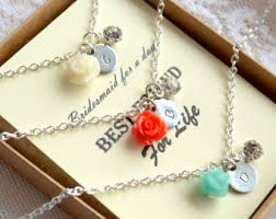 bridesmaid jewelry gifts bridesmaid necklace set of 8 etsy