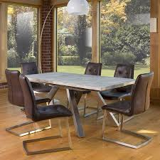 avanti extending concrete effect 240cm dining table
