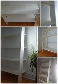 Diy Ladder Shelf Shelves Tutorials by Make A Leaning Ladder