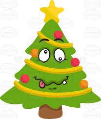 a crazy christmas tree cartoon clipart vector toons