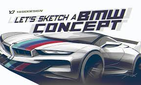 porsche concept sketch let u0027s sketch a bmw concept with yasid design youtube