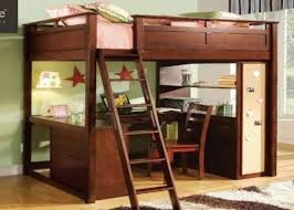 awesome full size loft bed with desk wood 94 for interior