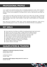 Resume Sample University by 20 Auto Mechanic Resume Examples For Professional Or Entry Level