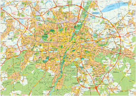 Munich Germany Map by Download Munchen Vector Maps As Digital File Purchase Online Our