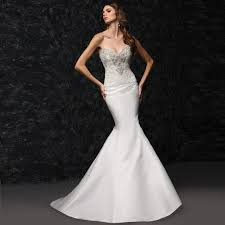 tight wedding dresses strapless lace satin mermaid tight wedding dress in wedding