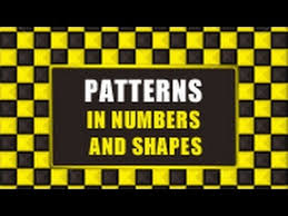 pattern and numbers patterns in numbers and shapes youtube