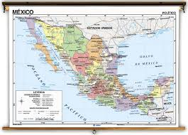 political map of mexico language mexico political physical classroom maps on
