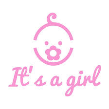 baby shower poster it s a girl text with icon for baby shower posters by