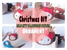 Hello Kitty Christmas Tree Decorations Christmas Diy Hello Kitty In A Reindeer Costume Plushie Ornament