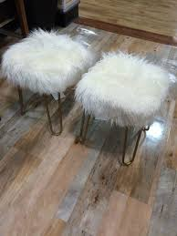 faux fur stools a love story u2014 sarice amiee interiors