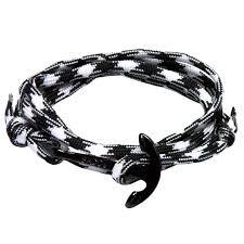 anchor wrap bracelet images Black anchor wrap bracelet black white nylon sa team jpg