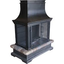 Outdoor Chimney Fireplace by Hampton Bay Outdoor Fireplaces Outdoor Heating The Home Depot