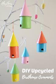 diy upcycled birdhouse ornaments rhythms of play