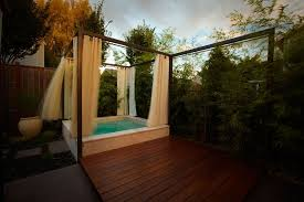Outdoor Curtains With Grommets Contemporary Tub With Fence By Rainbowvalleyinc Zillow Digs