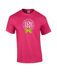 bow monogram custom monogrammed bow t shirt