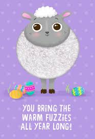 fuzzy easter fuzzy warm fuzzies easter card for kids greeting cards