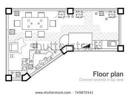 black white floor plan modern apartment stock vector 595766405