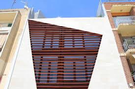 brown facade design ideas in modern style calabuig house facade