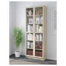 billy bookcase with glass doors dark blue ikea