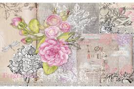 mural retro card with roses in vintage style wall mural retro card with roses in vintage style