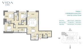 vida za u0027abeel apartments by emaar zabeel park floor plan