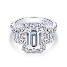 emerald stones rings images Emerald cut engagement rings gabriel co jpg