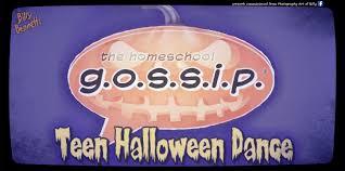 the homeschool gossip teen halloween dance october 20 2017