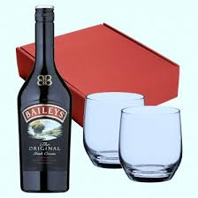 baileys gift set havens boxed 70cl bottle baileys and pair dartington wine and