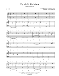 fly me to the moon by frank sinatra piano sheet rookie level