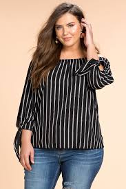 blouses for plus size s plus size blouses my side stripe shoulder top a