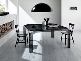 Contemporary Italian Dining Table Nella Vetrina Tonelli Nervi Contemporary Italian Glass Desk In Glass