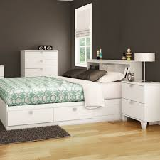 Bookcase Headboard With Drawers Southshore Karma 4 Piece Bedroom Set Karma Twin Mates Bed