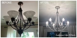 chandelier live luscious life u0026 decor amazing chandelier makeover using chalk paint