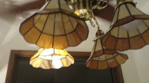 My Foyer New Light Shades On The Worlds Fair Ceiling Fan In My Foyer Youtube