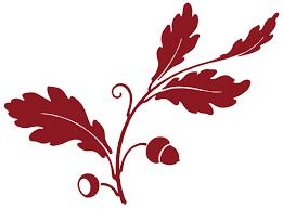 antique clip oak leaf acorns silhouette the graphics