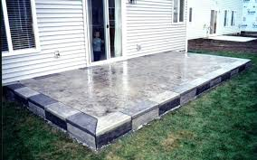 Backyard Cement Ideas Cement Backyard Backyard Cement Patio Ideas Concrete Backyard