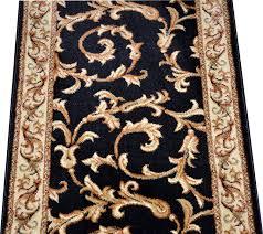 Custom Runner Rugs Amazon Com Dean Black Scrollworks Custom Length Carpet Rug