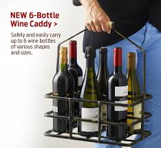 wine enthusiast wine accessories wine storage and wine gifts new 6 bottle wine caddy
